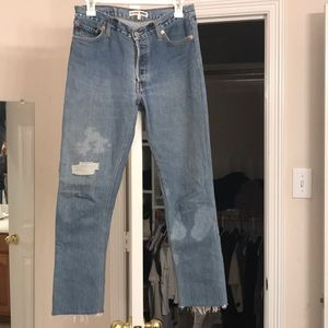 Relaxed Crop Re/Done Levi's Size 24